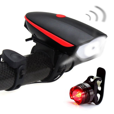 Waterproof USB Led Bike Light Rechargeable Headlight and Taillight with Horn