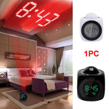 New Multifunctional LED Digital Alarm  With Voice Talking Temperature Display Function Projection Clock