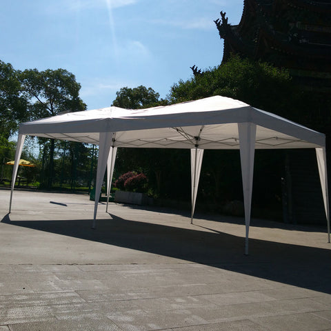 10' x 20' EZ POP UP Wedding Party Gazebo Patio Tent Folding Canopy No Walls