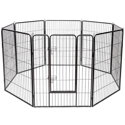 "40"" 8 Metal Panel Heavy Duty Pet Playpen Dog Fence"