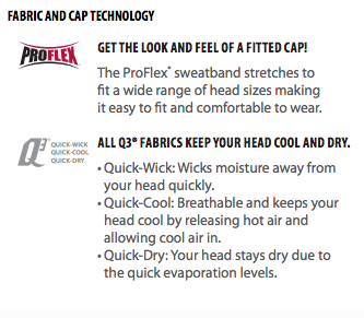 Power Arm Hat- ProFlex and Q3 technology