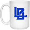 Langan Baseball -15 oz White Coffee Mug