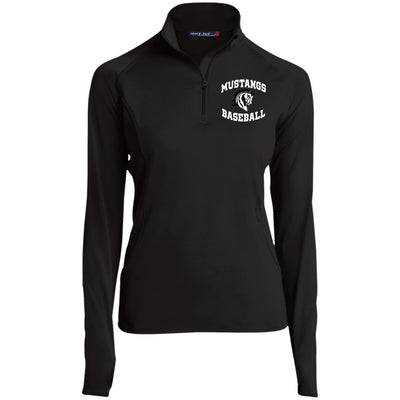 Mustangs BB -Women's 1/4 Zip Pullover