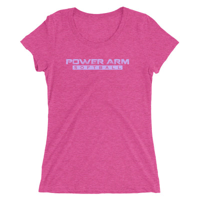 PA Softball Purple- Women's Triblend Tee