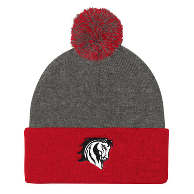 MS Mustangs -Pom Pom Knit Cap