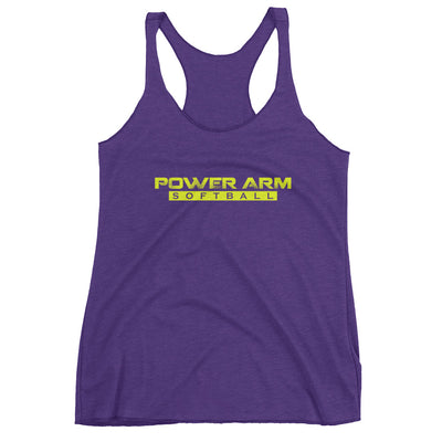 PA Softball Yellow- Women's Racerback