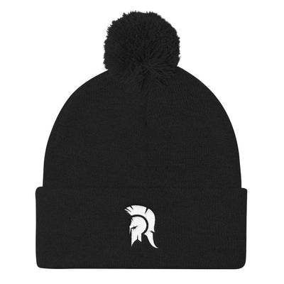 CFWL White Warrior -Pom Pom Knit Cap