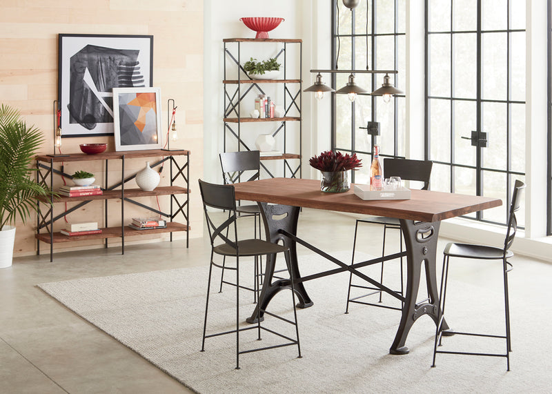 Blayne Rustic Farmhouse Live-Edge Dining Table
