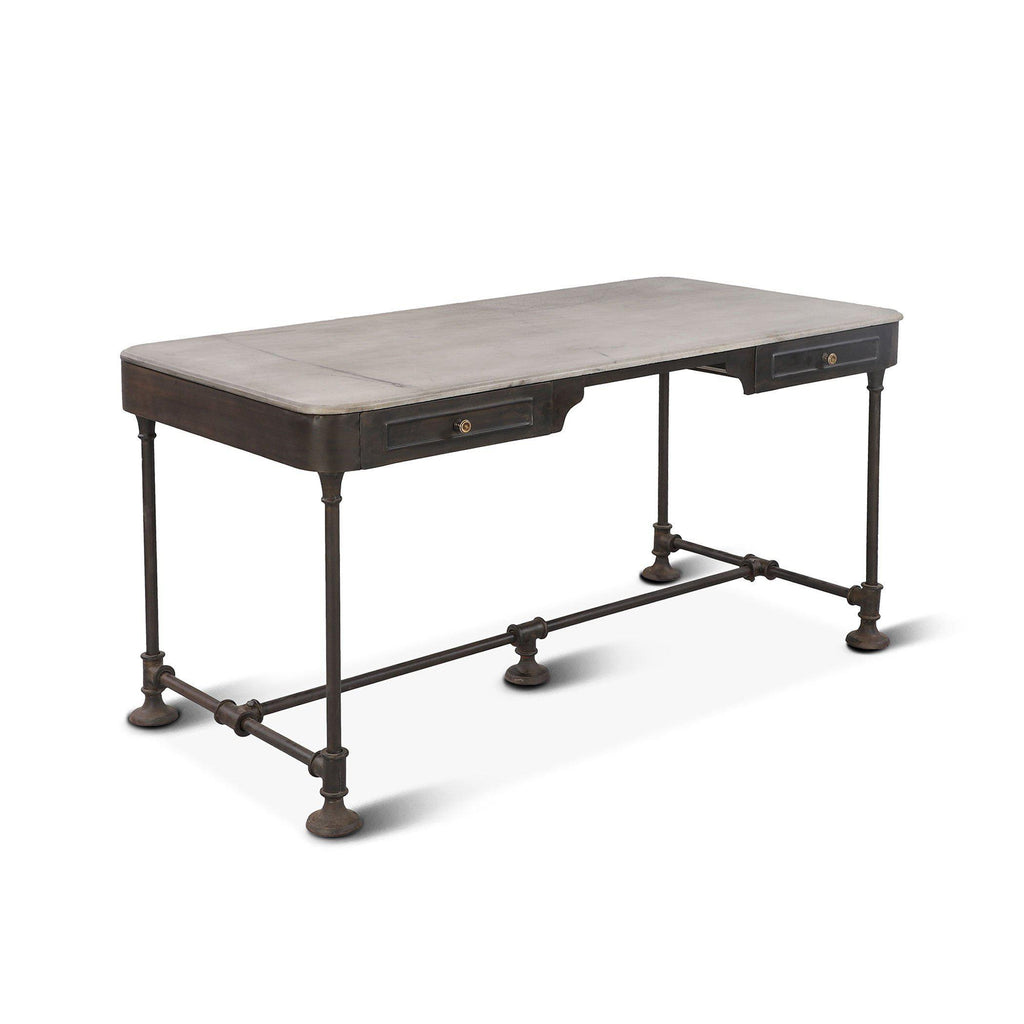 Melbourne Industrial Marble Writing Desk
