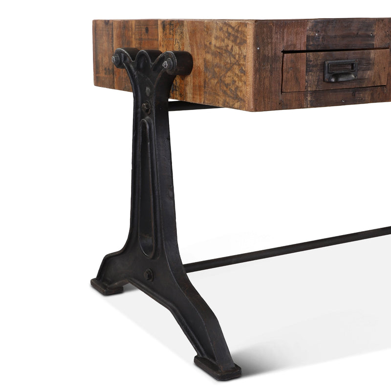 Melbourne Reclaimed Rustic Writing Desk