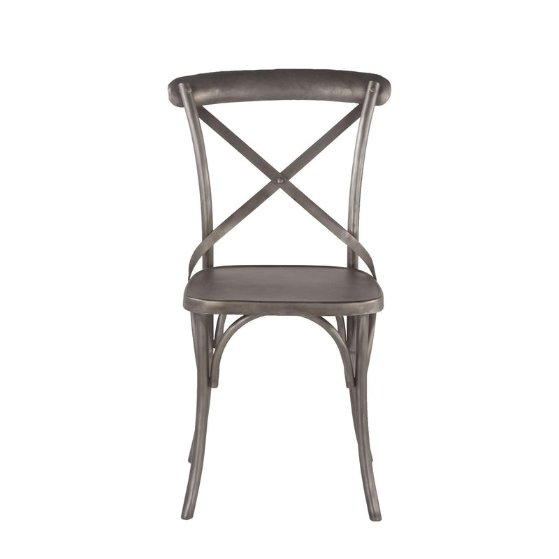 Anderson French Industrial Iron Dining Chairs, Set of 2