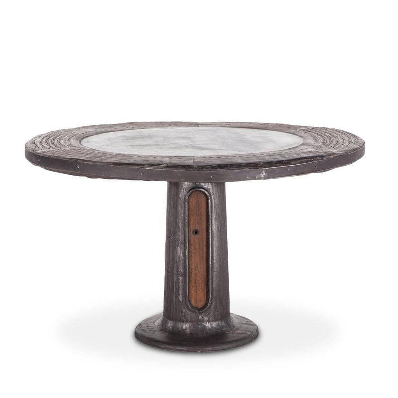 Welles Round Industrial Steampunk Table