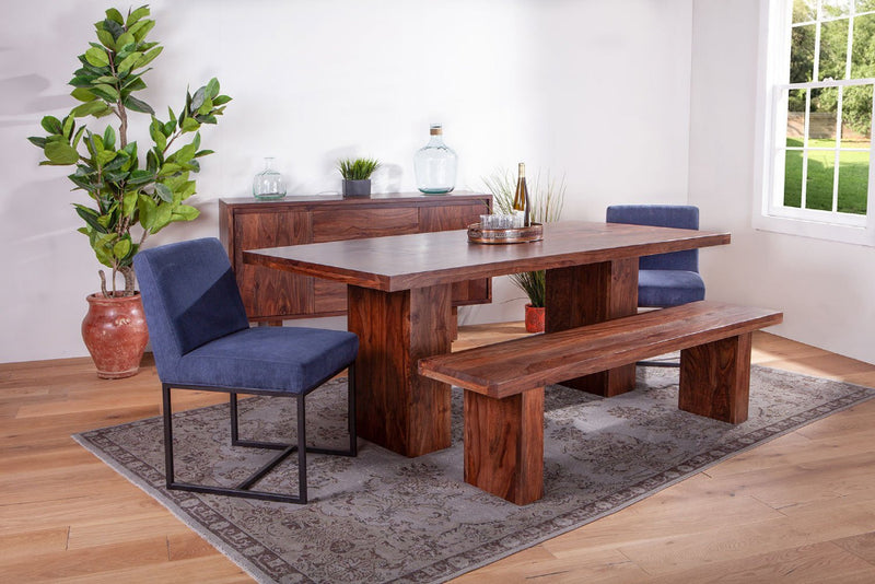 Alberta Modern Sheesham Wood Dining Table