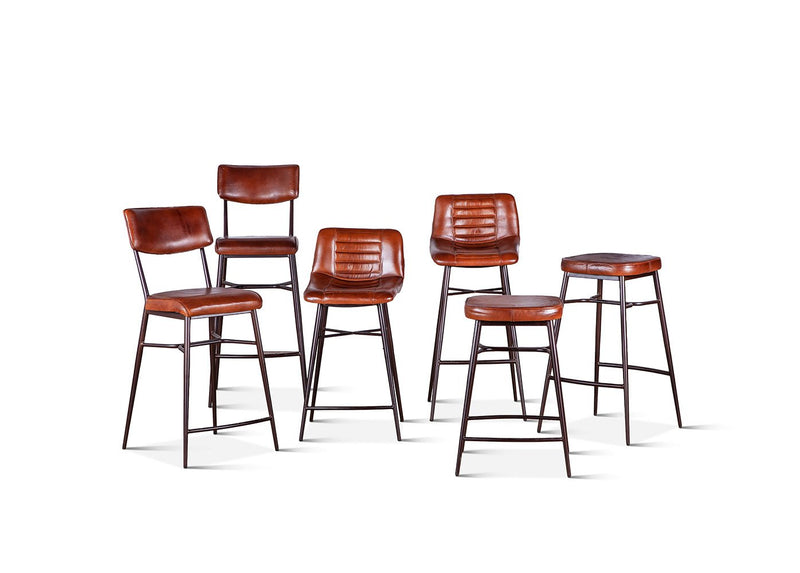 Hudson Leather Stool