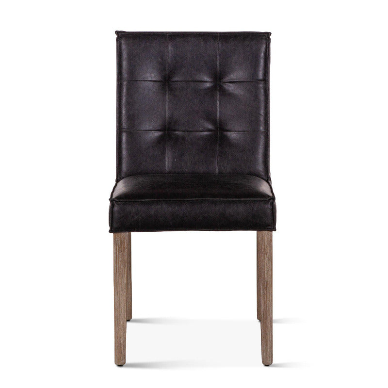 Avery Modern Leather Dining Chair, Set of 2