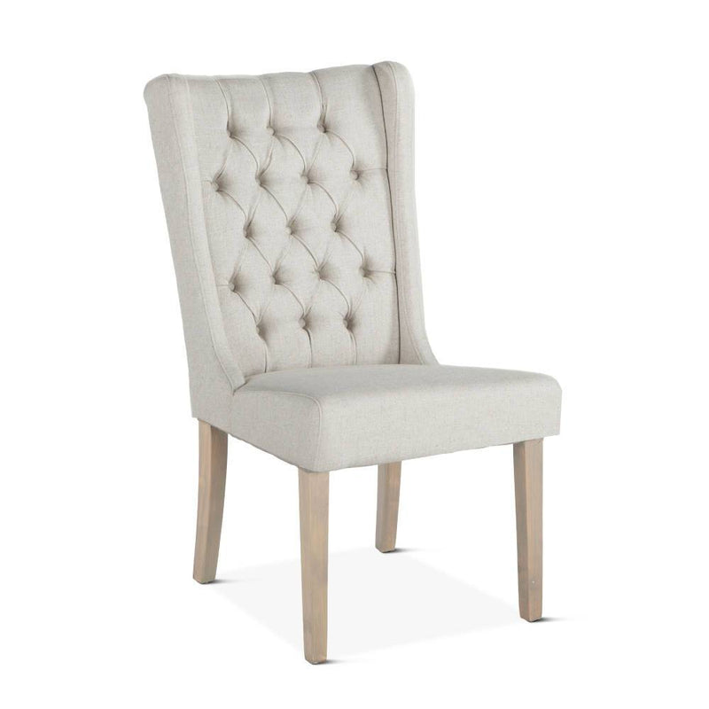 Chloe Mid Century Wing Dining Chair  - Off White