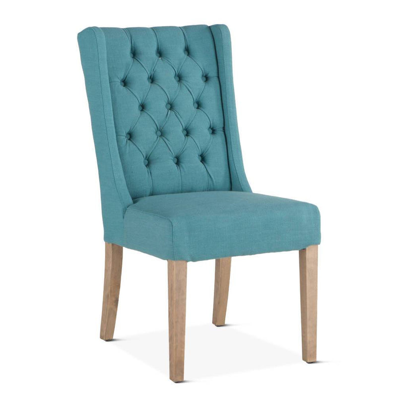 Chloe Mid Century Wing Dining Chair  - Teal