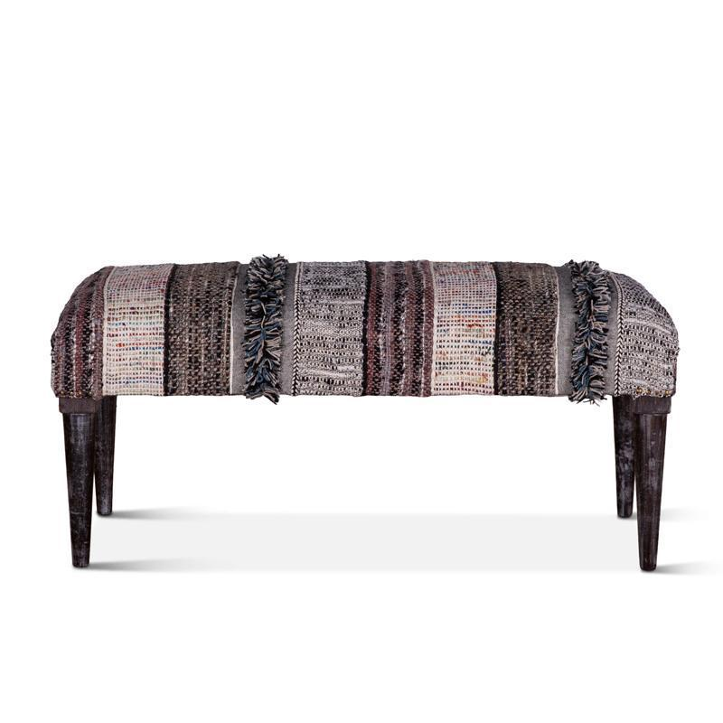 Algiers 42-Inch Upholstered Multi-Color Accent Bench