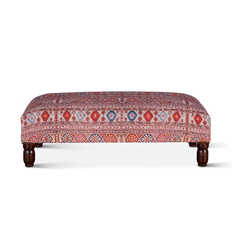 Algiers 48-Inch Mixed Red Pattern Ottoman