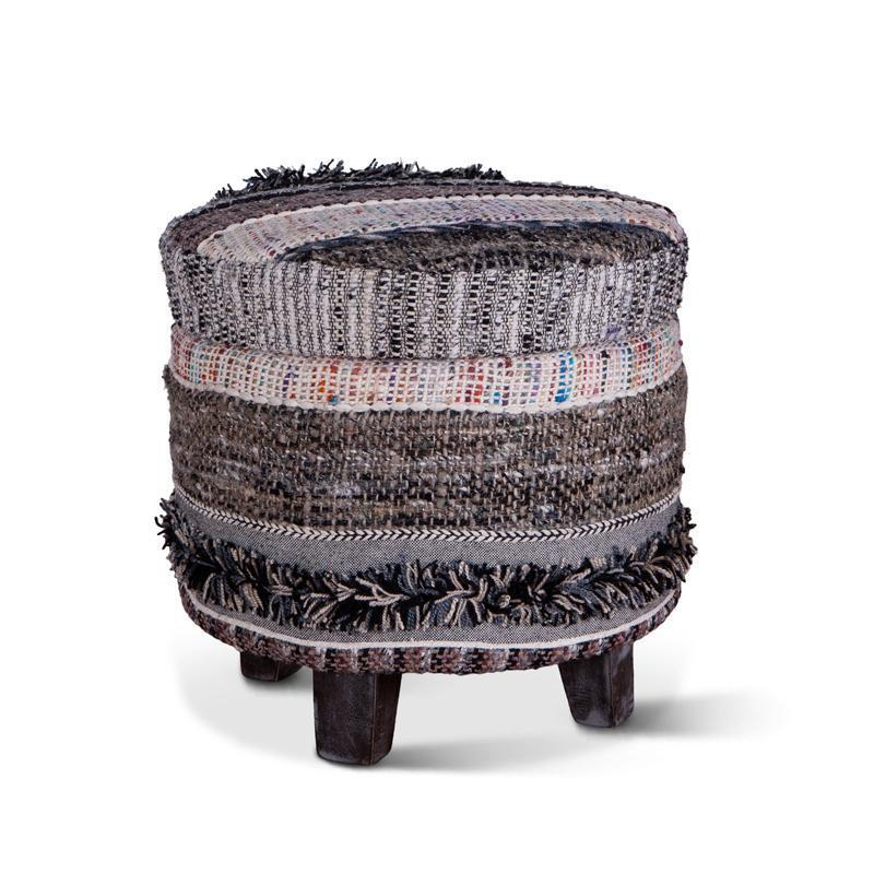 Algiers 18-Inch Upholstered Multi-Color Storage Stool