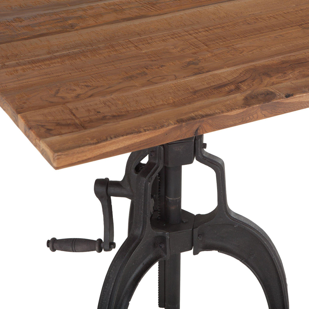Artezia Farmhouse Industrial Crank Table
