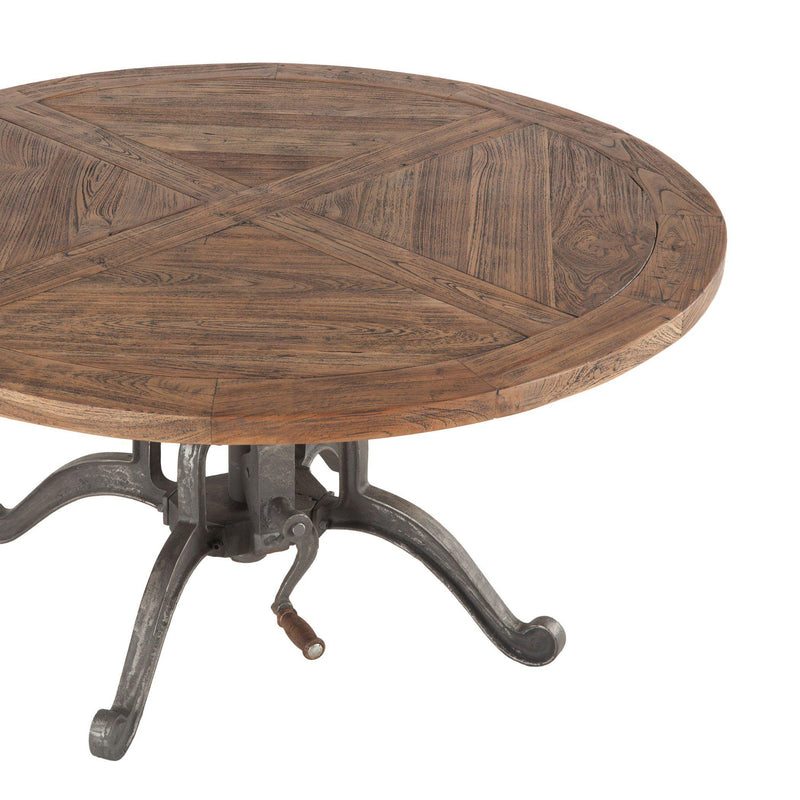 Artezia Industrial Teak Crank Coffee Table