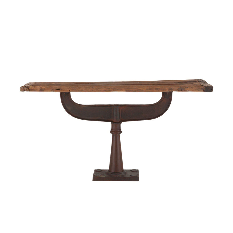 Artezia Rustic Industrial Console Table