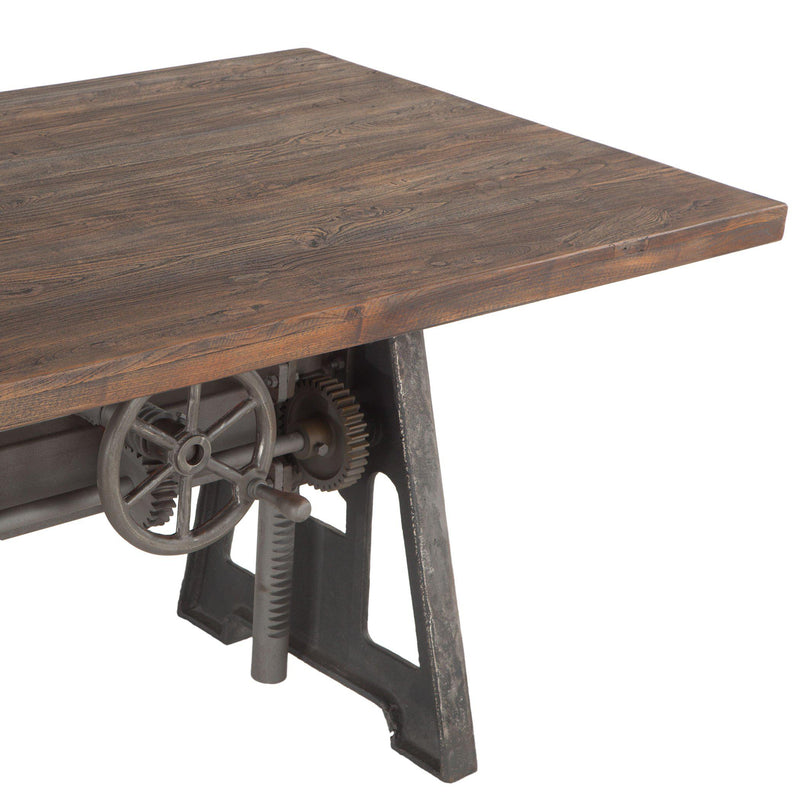 Artezia Recycled Teak Industrial Crank Table