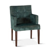 Avery Green Velvet Armchair