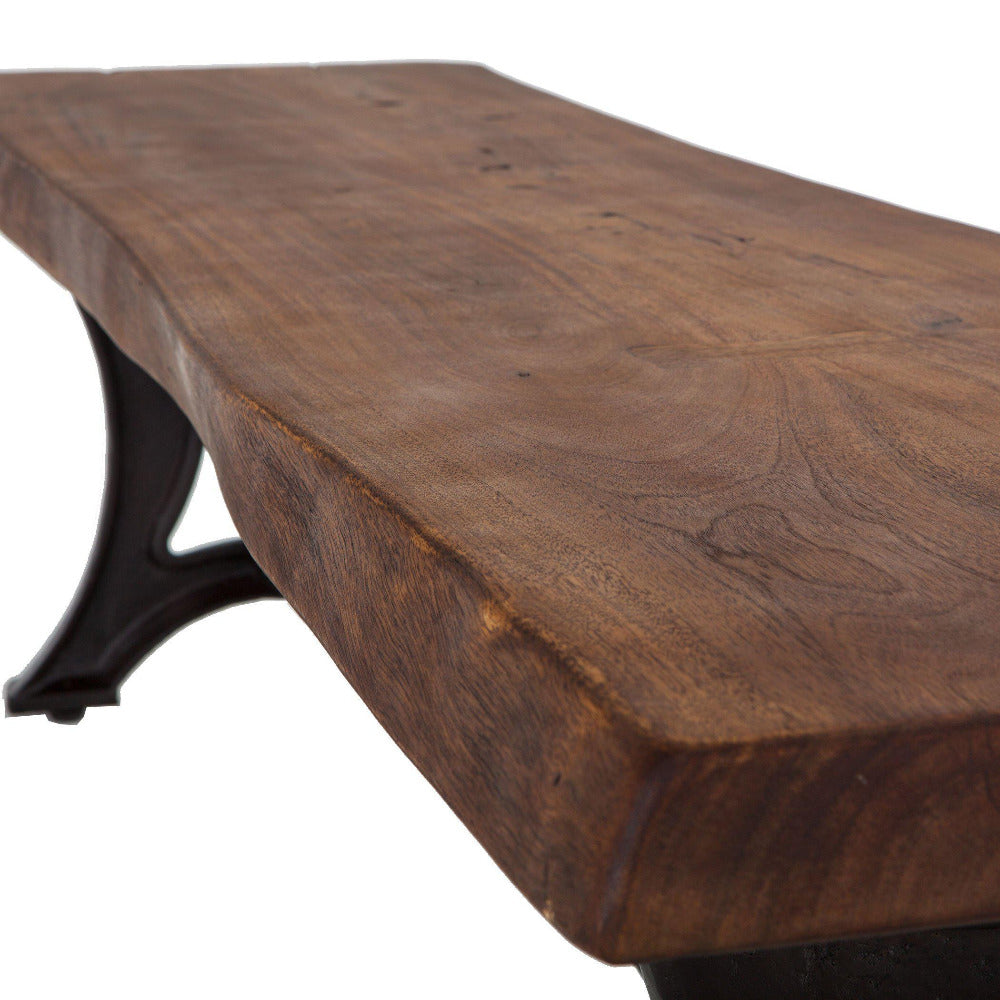 Blayne Rustic Farmhouse Live Edge Bench