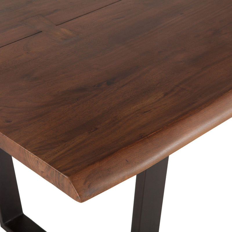 Belfrie 72-Inch Acacia Wood Dining Table in Dark Walnut Finish