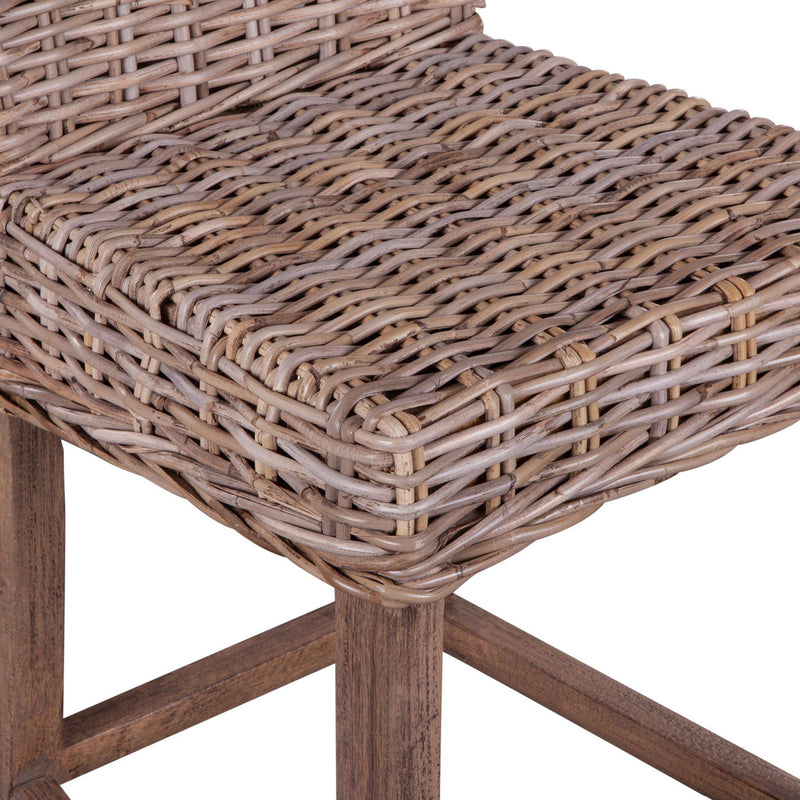 Bali Natural Wicker Counter Chair