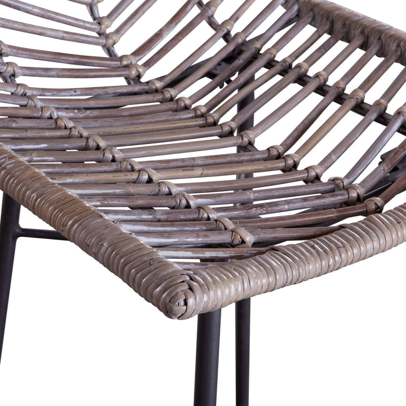 Bali Kubu Rattan Bar Chairs, Set of 2