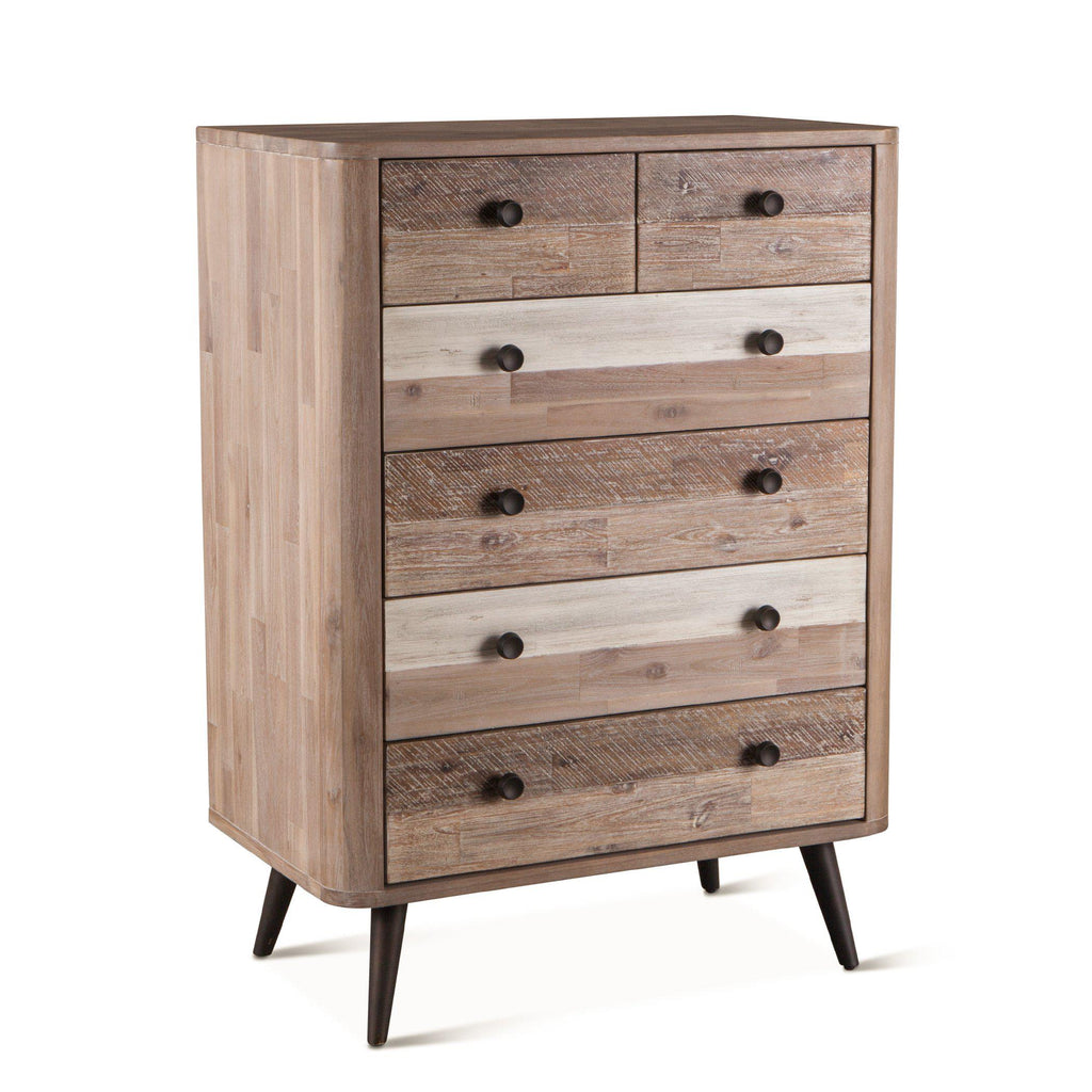 Newport Acacia Wood Modern Chest