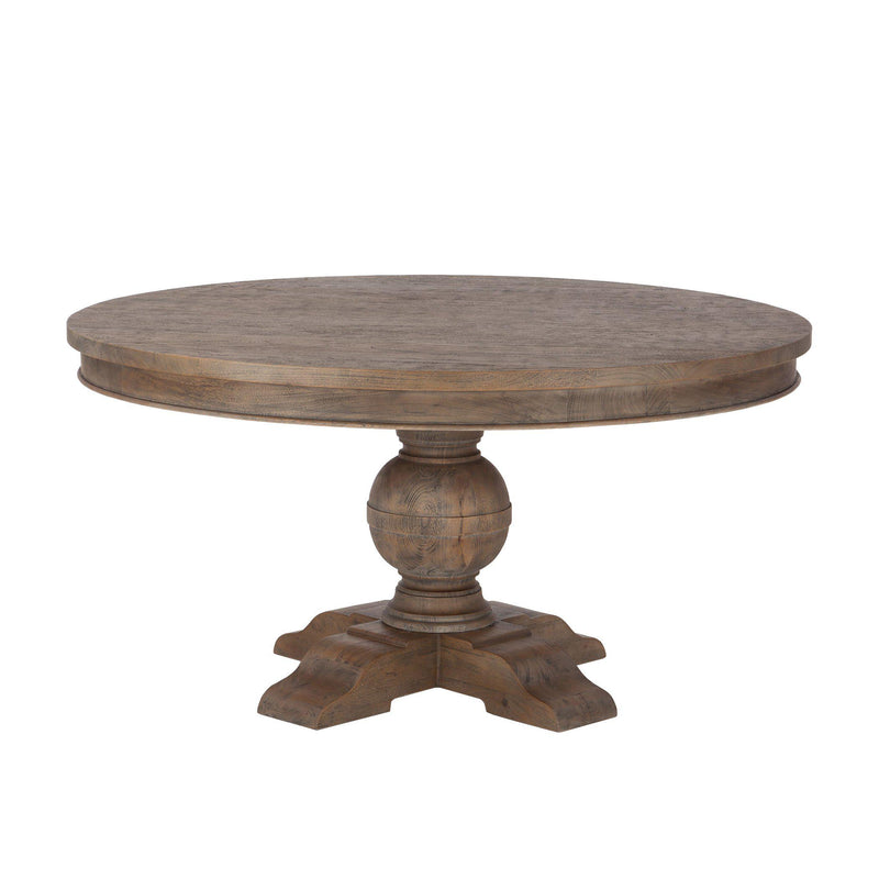 Chatham Downs Spanish Gray Round Pedestal Table