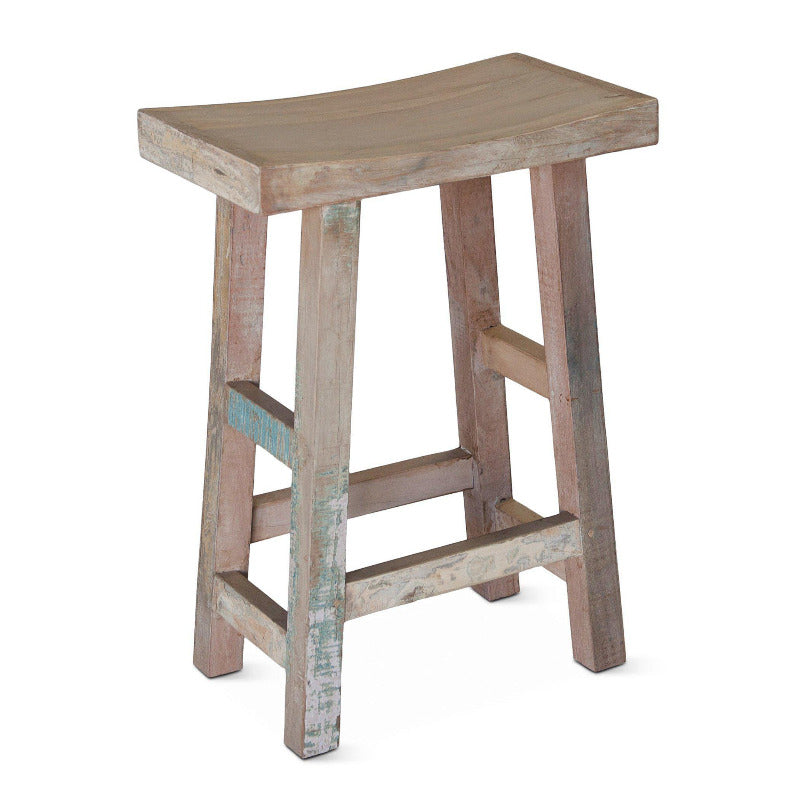 Cordoba Vintage Reclaimed Teak Counter Stool