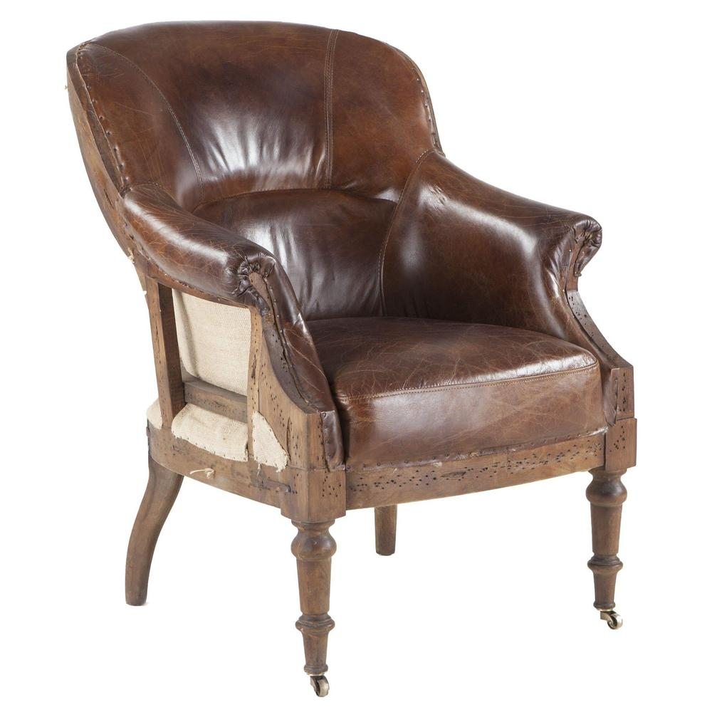 Charles Vintage Leather Club Chair