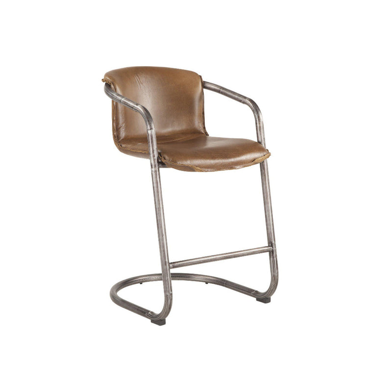 Chiavari Industrial Modern Leather Counter Stool