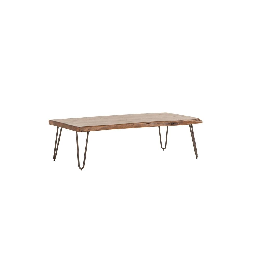 Grandby Mid-Century Modern Live Edge Coffee Table