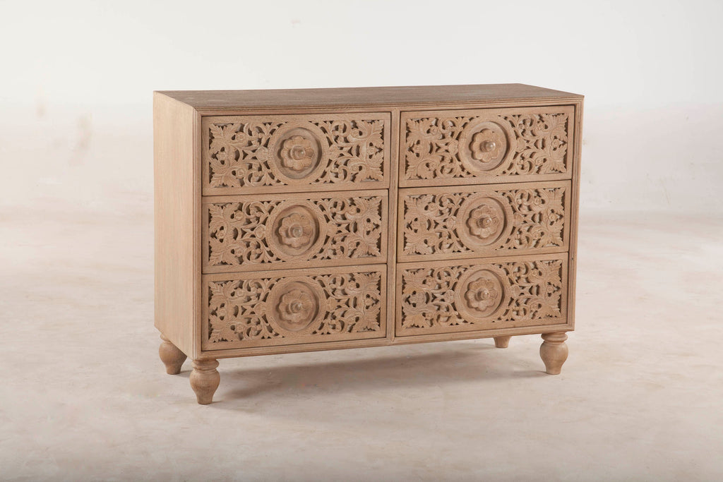 Haveli Traditional Hand-Carved Dresser
