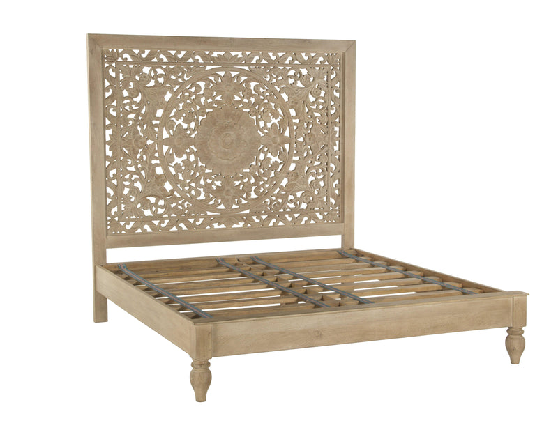 Haveli Traditional Hand Carved Bed