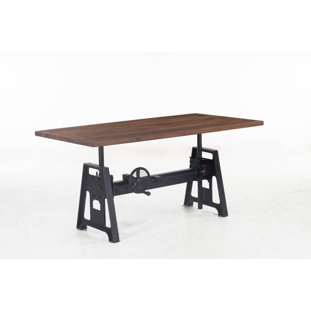 Amici Adjustable Desk - Acacia Wood - World Interiors