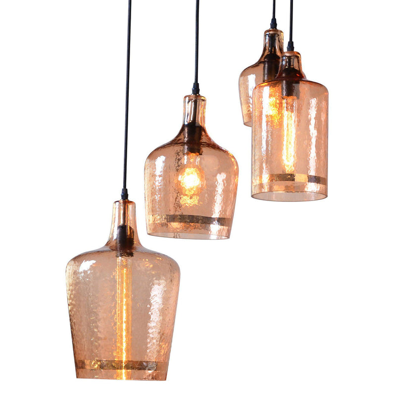 Element Hammered Glass Multi-Pendant Light - World Interiors