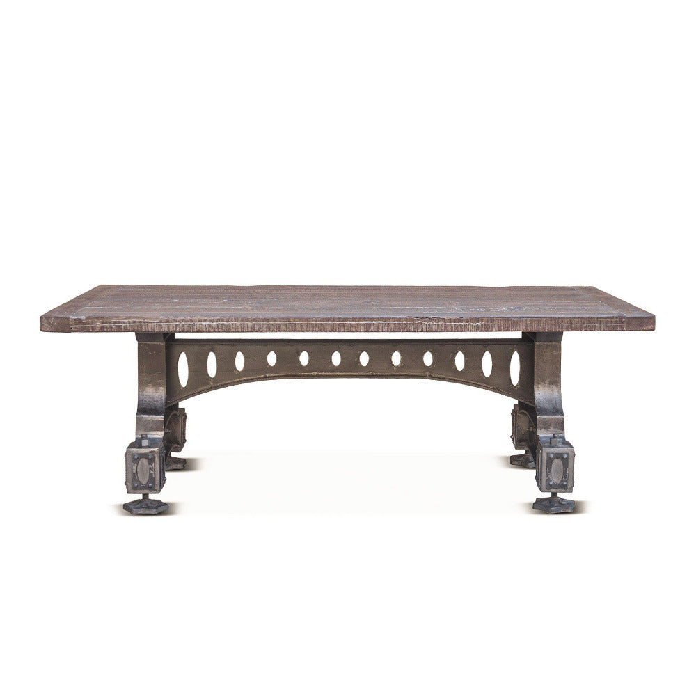 Sterling 53-Inch Cast Iron Coffee Table