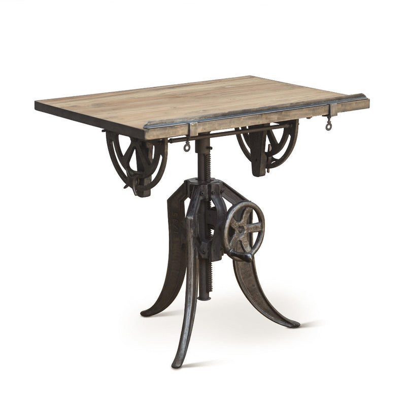 Sterling Adjustable Reclaimed Teak Drafting Desk