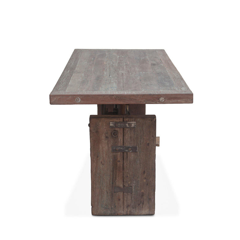 Sterling Adjustable Reclaimed Teak Office Desk