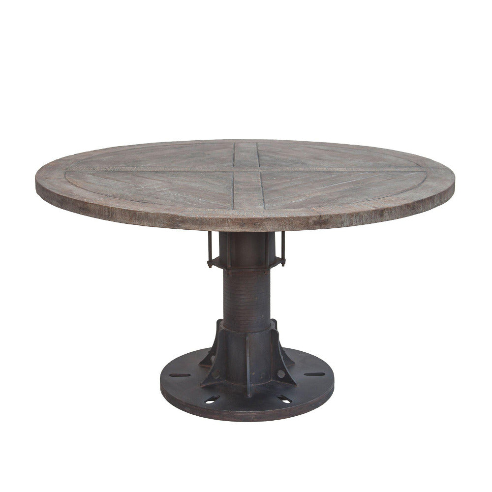 Sterling 54-Inch Round Reclaimed Teak Dining Table