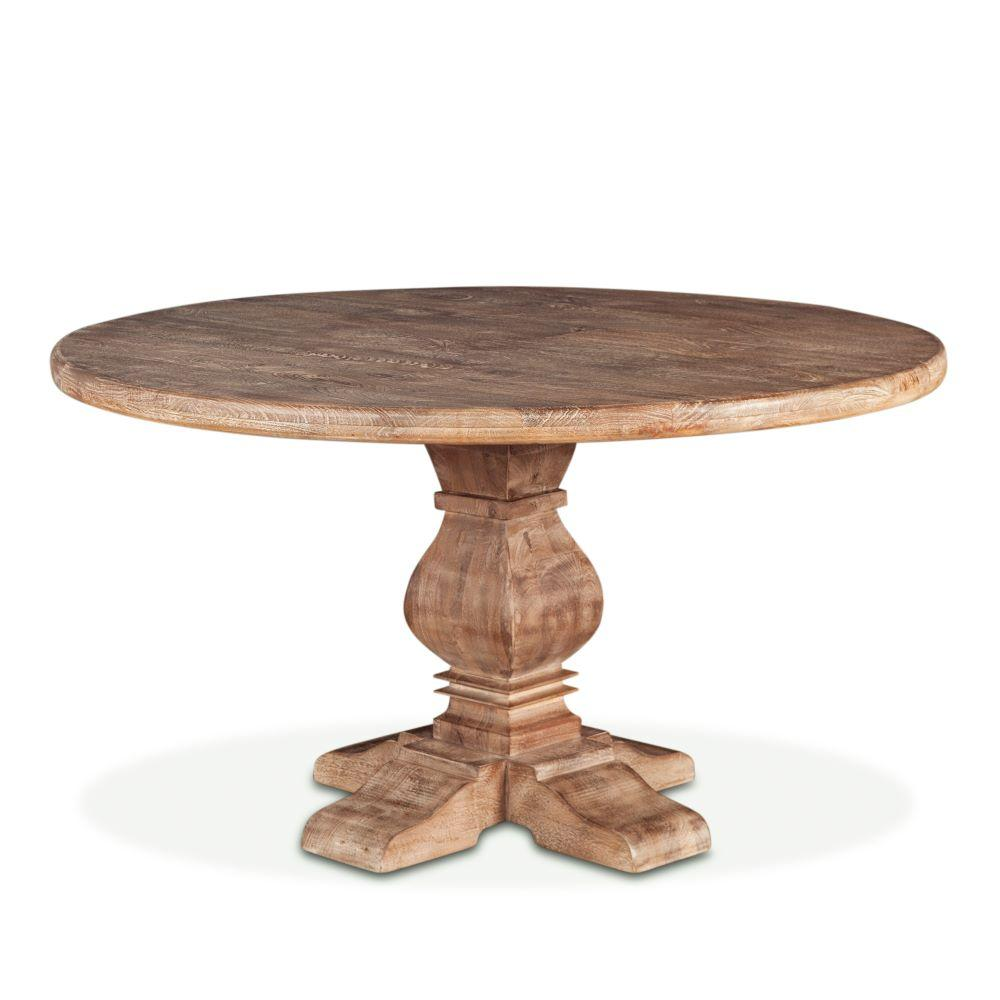 Pengrove Modern Farmhouse Round Dining Table