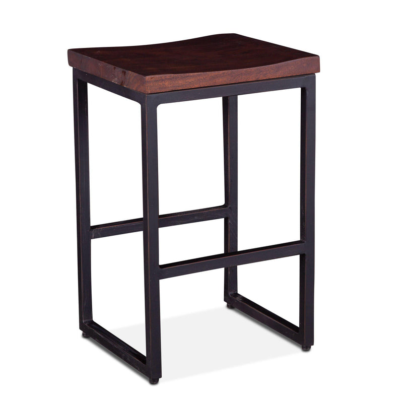 Amici 25.5-Inch Tall Acacia Wood Counter Stool
