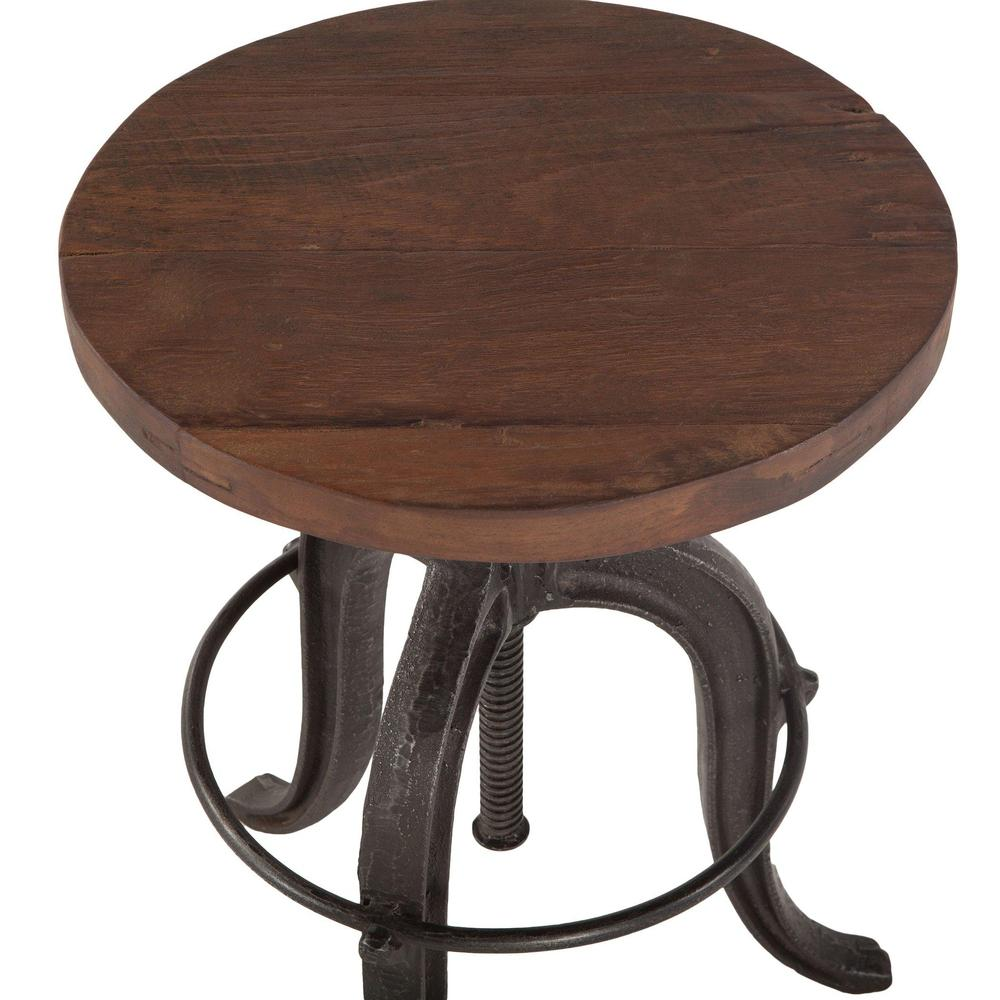 Paxton Rustic Industrial Adjusting Stool